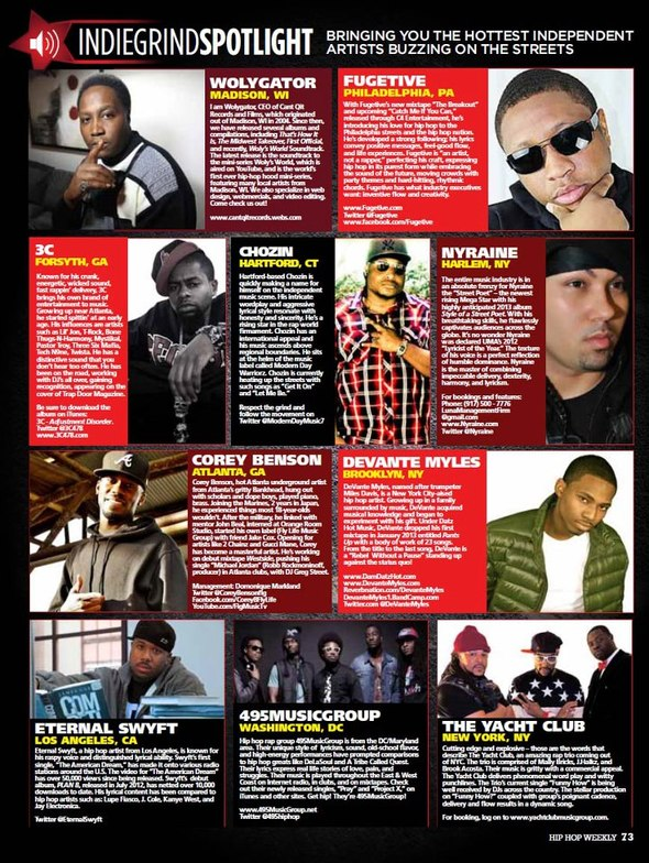 Get Featured on Hip Hop Weekly Magazine  Submit Your Best Music