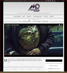 T.A. Corleone on Mechanical Dummy