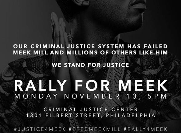 meek mill rally flyer