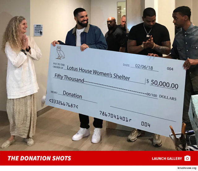 drake donation